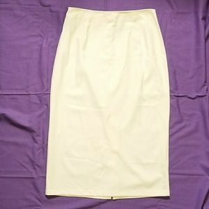 Long Creme A-line skirt-Size 16