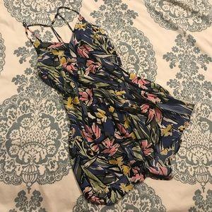 LUSH • Blue Floral Tunic/Mini Dress