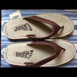 5622413c3d60 Island Step Men s handmade leather flip flop