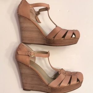 Seychelles Leather Wedge Sandals- Size 8 1/2