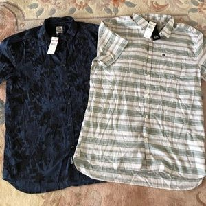 Bundle of NWT Quiksilver button downs