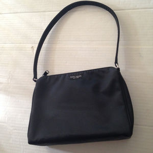 Kate Spade 90s Nylon Black Shoulder Bag Made in US