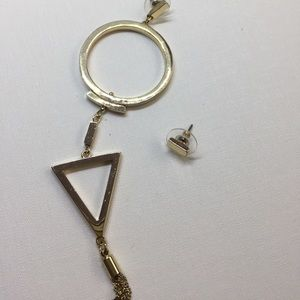 ZARA gold geometric earrings