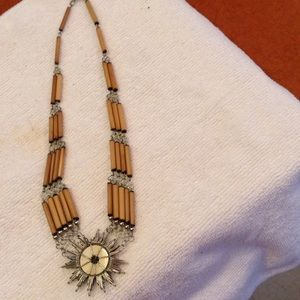 Jewelry - INDIAN MADE - SILVER / BAMBOO NECKLACE
