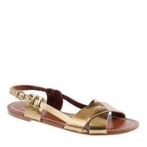 • J.Crew • Tova Metallic Sandals