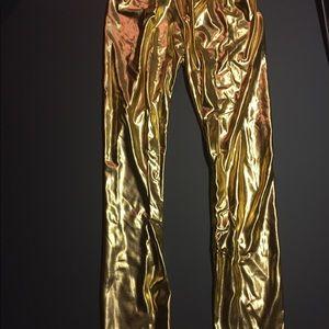 Shiny Gold leggings size XS