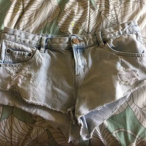 BDG (Urban Outfitters) light wash jean shorts