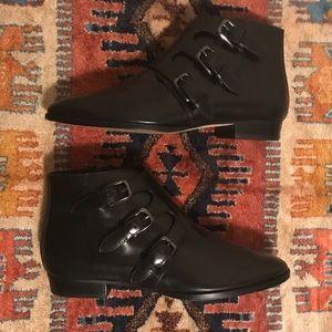 Michael Kors Black leather booties