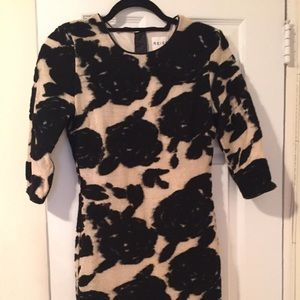 Reiss Black and Gold floral cocktail dress