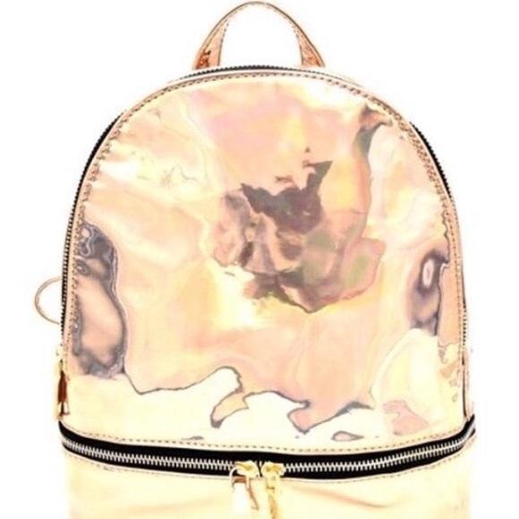 Rose Gold Book Bag Purse
