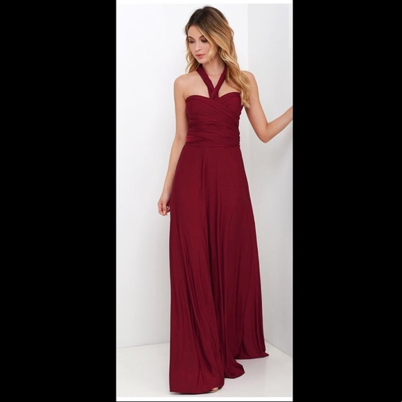 0e78d33b7f Lulu s Dresses   Skirts - Lulus Burgundy Convertible Maxi Dress
