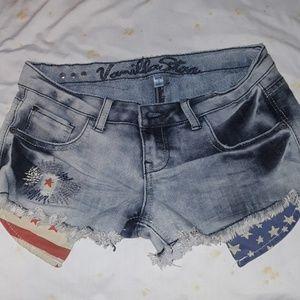 Patriotic mini shorts