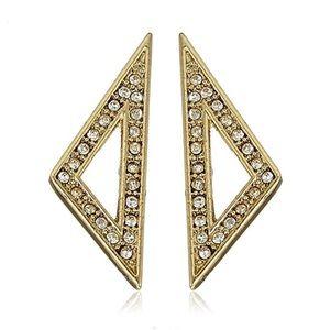 Rebecca Minkoff Gold & Pave Stud Earrings