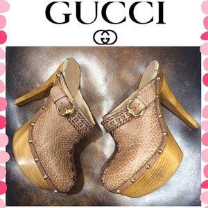Authentic Gucci Monogram heels