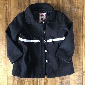 Gymboree Jackets Coats Fancy Girls 2t 3t Black White Jacket