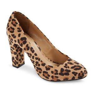 """Merona """"Meg"""" Leopard Print Pumps"""