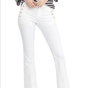 Banana Republic White Sailor Flare Jean  Mid Rise