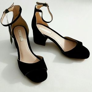 H&M 😍 new black real suede woman's Sandals 5.5