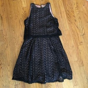 Black REISS Lace Dress