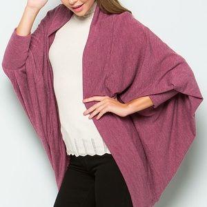 Sweaters - Mauve cardigan