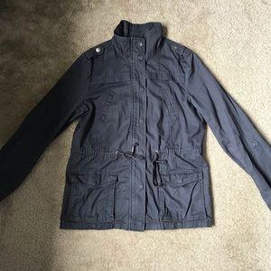 Grey cargo coat