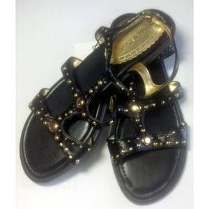 NWT Gold and Black Montego Bay Club Sandals