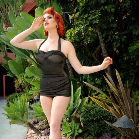 adbc10e3d6 Dixiefried Glamour Swim | Pin Up Dixiefried Suit In Blk Mesh | Poshmark