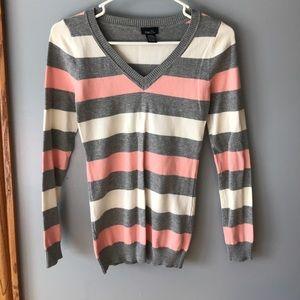 Rue 21 Striped v-neck sweater