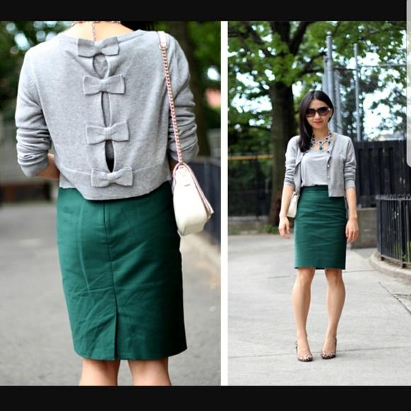 80b12d231401 J. Crew Dresses & Skirts - J. Crew Emerald Green Pencil Skirt