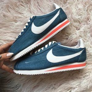 1ecfdf4bab9615 Nike Shoes - NWT Nike ID custom Cortez denim