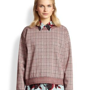 See By Chloe red plaid sweatshirt size 8