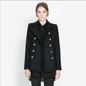 Zara military gold button jacket