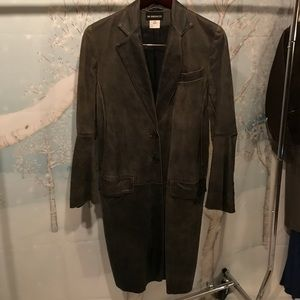 AnnDemeulemeester distressed leather coat