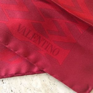 Valentino Garavani Red V-Fabric Silk Long Scarf