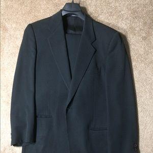 Giorgio Armani Men's Suit 40 Black Made in Italy