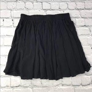 Brandy Melville Black Twirl Skirt