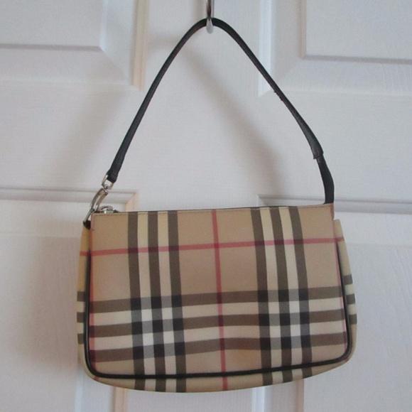8af35d025f54 Burberry Handbags - Burberry London Nova Check Pochette Coated Canvas