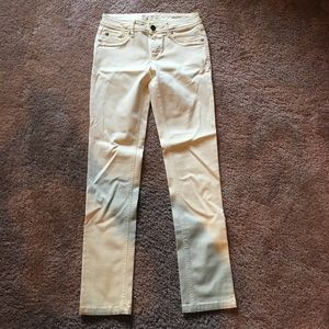 DL1961 yellow skinny mid rise ankle pants size 26