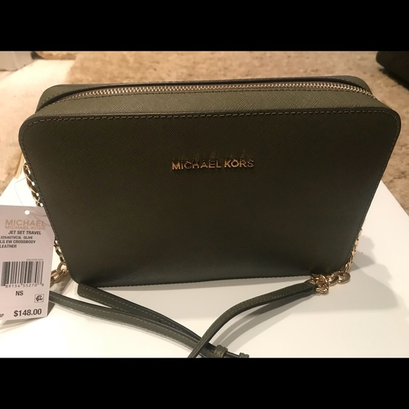 ea63e919a7fb Michael Kors olive green crossbody bag