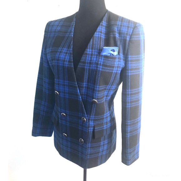 Vintage Jackets & Blazers - Vintage wool plaid jacket blazer