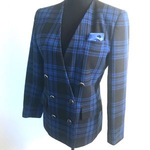 Vintage Jackets & Coats - Vintage wool plaid jacket blazer