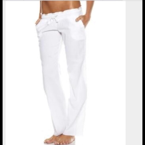 new varieties online store incredible prices 2Chillies White Cotton Beach Pants NWT
