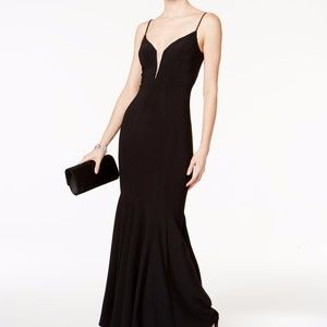 Betsy & Adam llusion Mesh Mermaid Gown