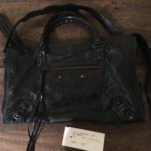 Balenciaga Classic City black with brass hardware