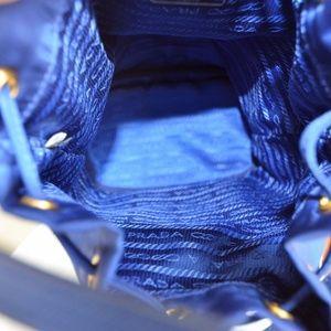 57509ec654e7 Prada Bags | Contenitore Maniglia Bucket Crossbody Blue | Poshmark
