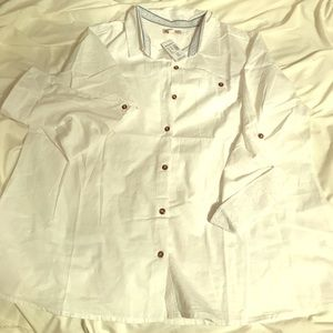 NWT Dressbarn size 2X white button down blouse