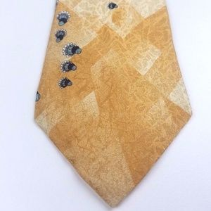 New LUCIAN SOPRANI Yellow Silk Men's Neck Tie