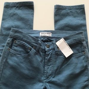 American Apparel China Blue Skinny Jeans