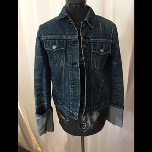 Fitted helmut Lang denim jacket