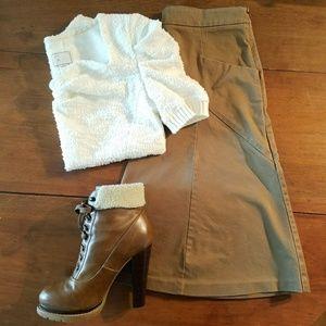 Express Design Studio Skirt, Brown